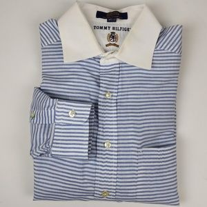 Tommy Hilfiger Blue Striped Dress Shirt